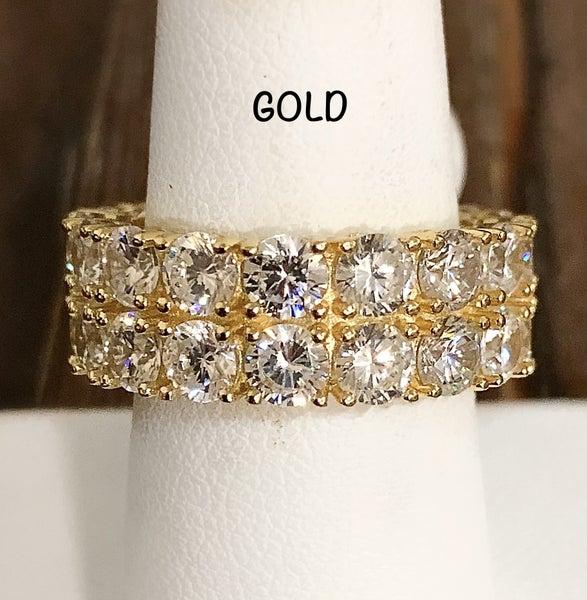 NYJ - CZ Circle Double Band Ring