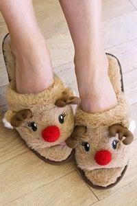 Urbanista - Soft open toe reindeer slippers