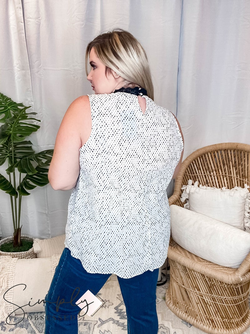 White Birch LA First Dibs - Victorian Lace Mock Neck Top