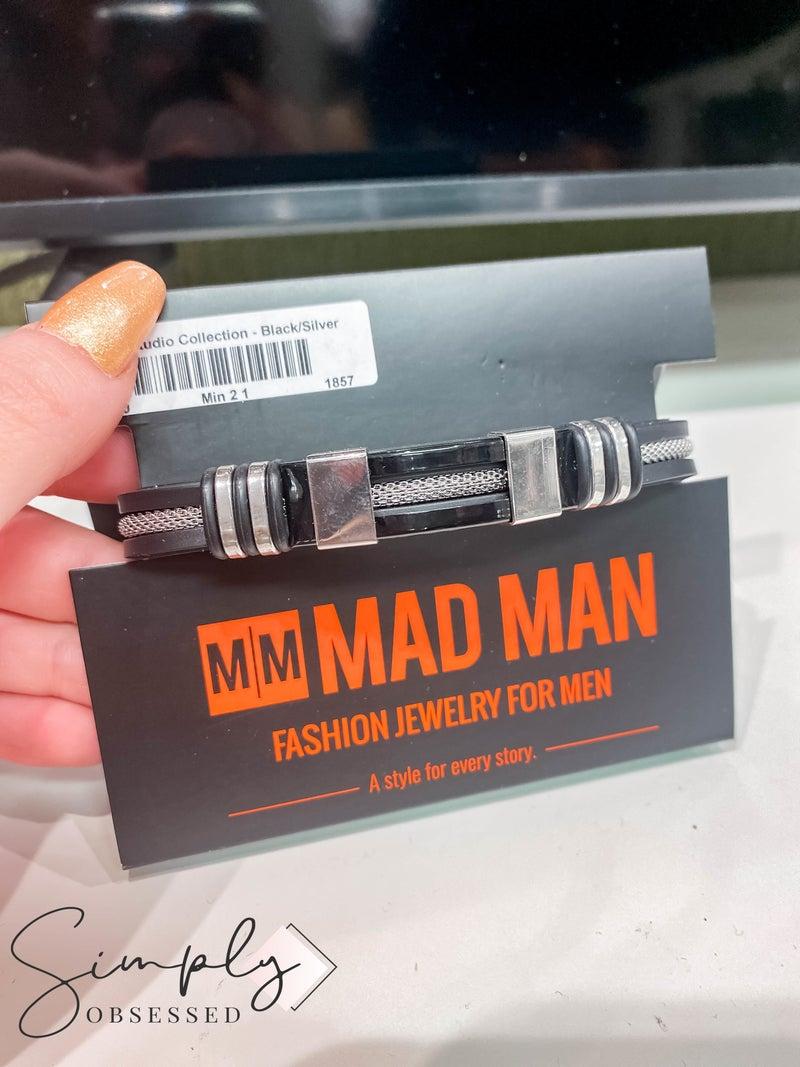 Atlanta Mad Man First Dibs Sale - Studio Collection Black/Silver Bracelet