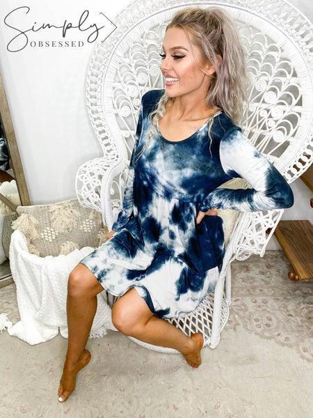 BiBi - Tie Dye Jersey Tiered Dress