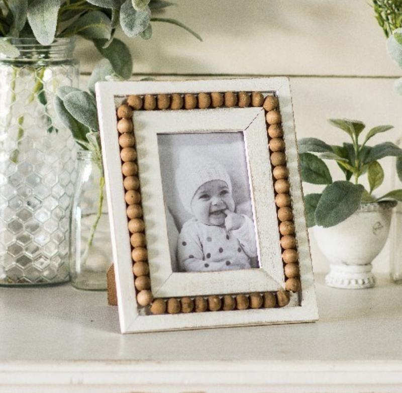 VIP ATL - Wood Bead Embellishment Antique Photo Frame