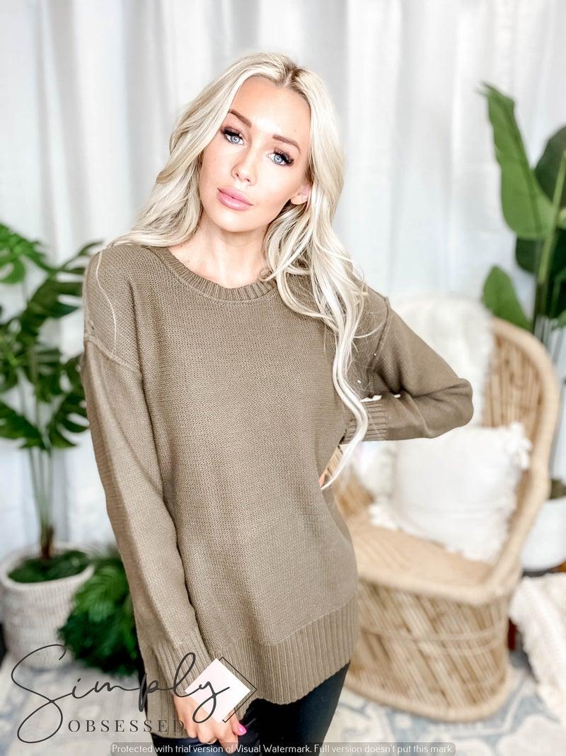 Blue B - Drop Shoulder Pullover Sweater
