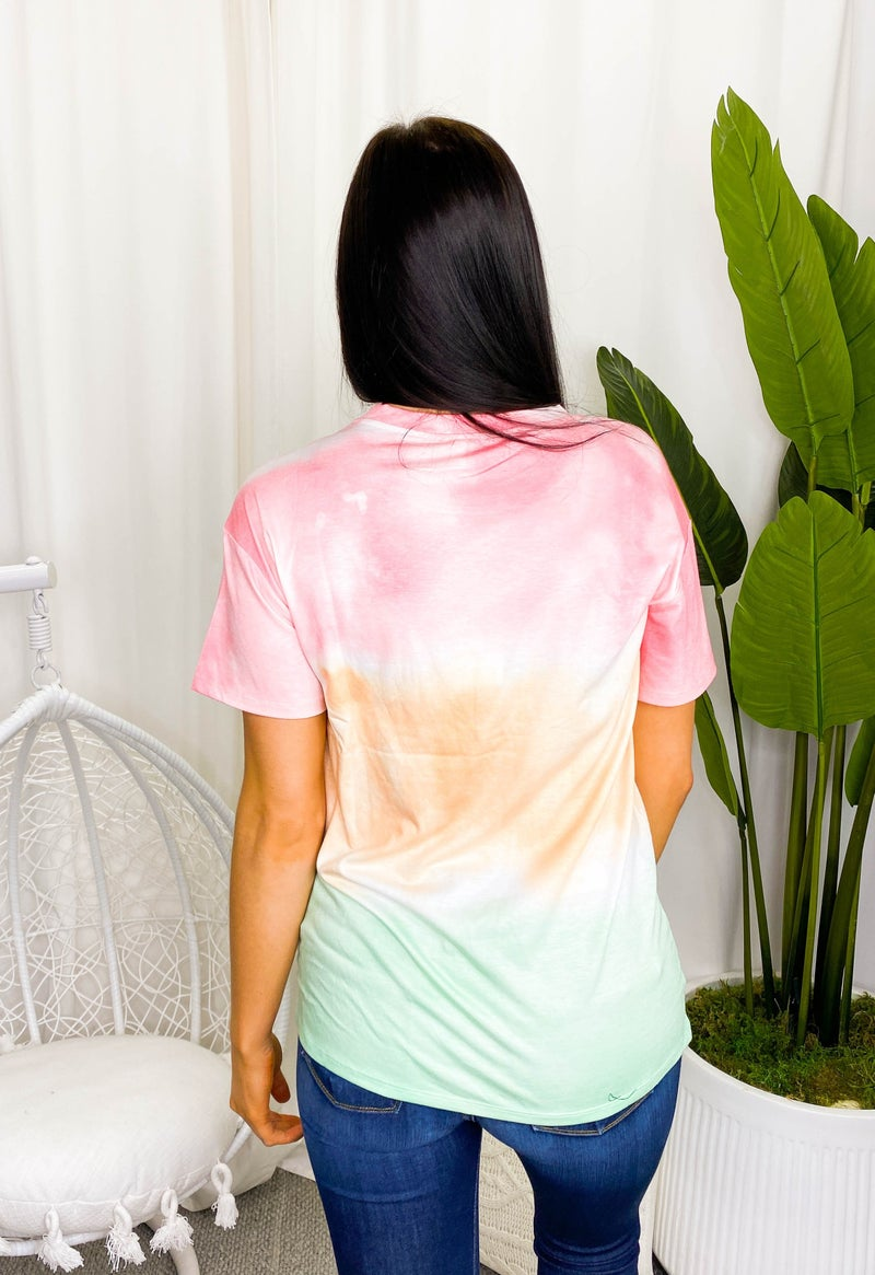 Lala Factory - Short sleeve loose fit tie dye top