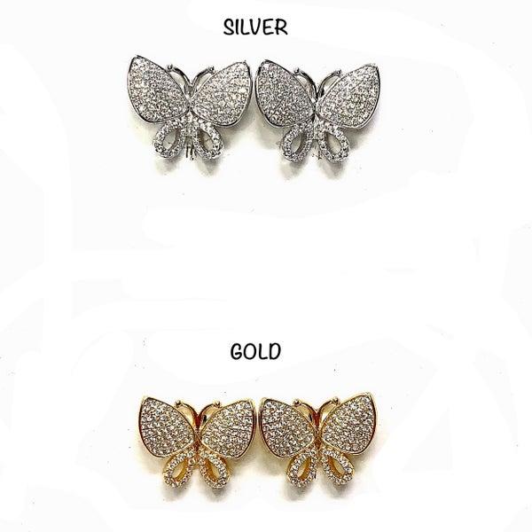 Butterfly Chunky Earrings