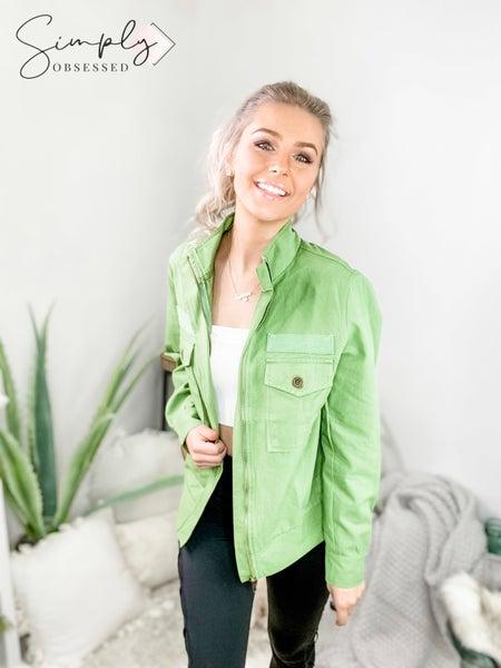 Mazik - Double pocket front zip up jacket