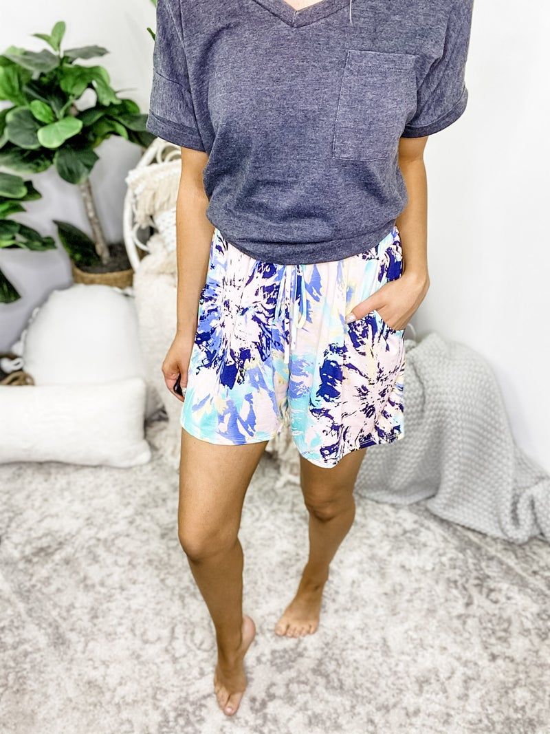 EGS - Abstract Tie Dye Shorts