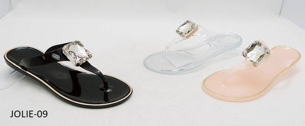 WILD DIVE- JELLY FLIP FLOP WITH CENTERPIECE