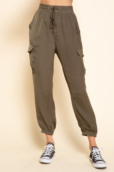 Mittoshop - Cargo pants with elastic waist band