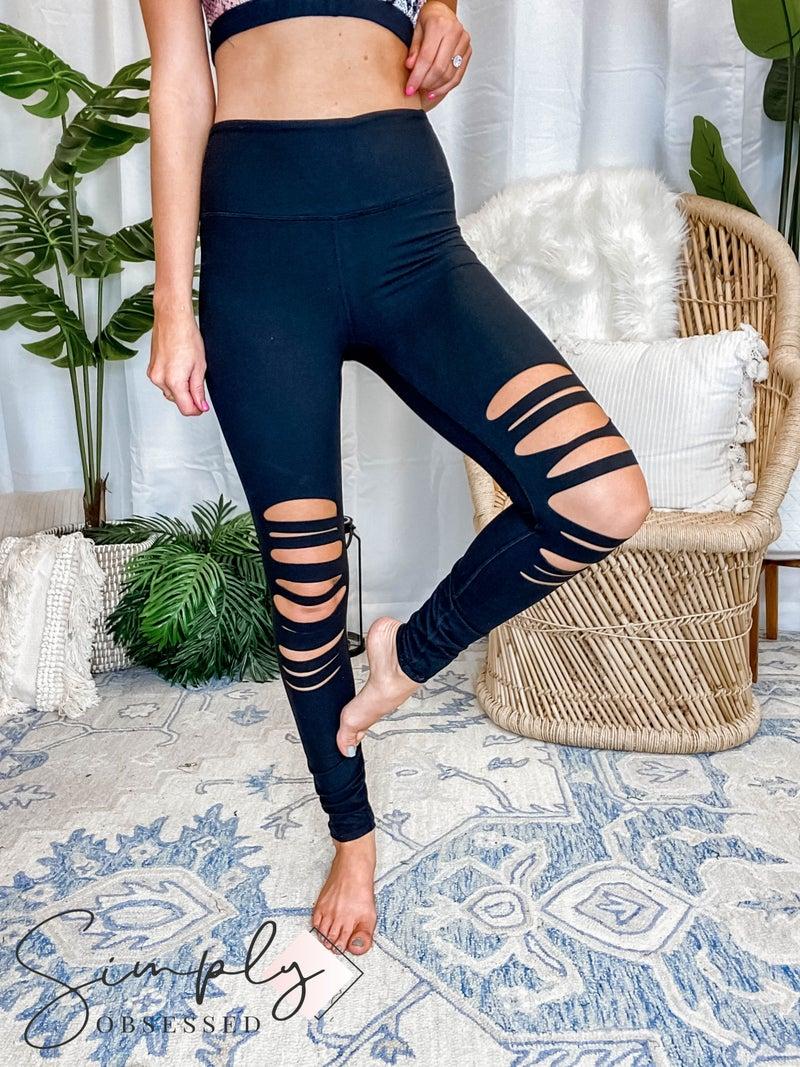 Rae Mode - Laser cut detail SOLID leggings (All Sizes)