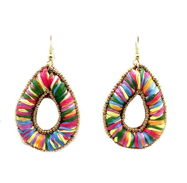 WORLD FINDS - Colorful Teardrop Pillow Earrings