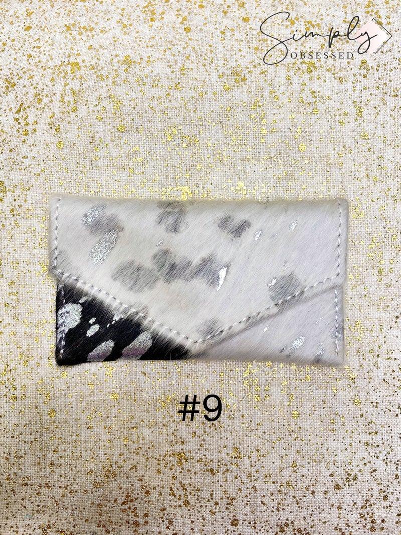 American Darling - Acid wash detail button close card holder