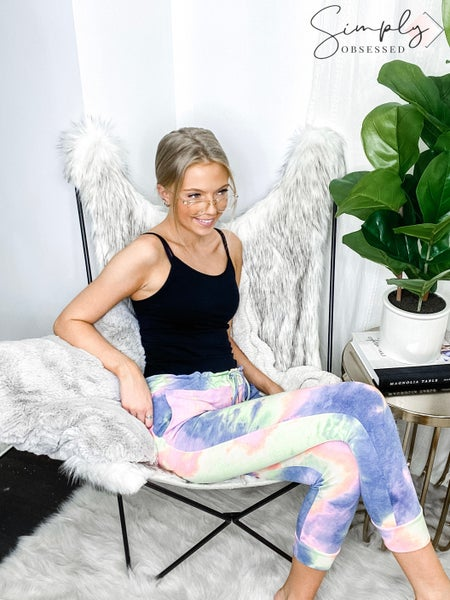 Heimish - Tie dye knit joggers with side pocket and drawstring detail