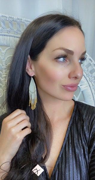 FOSTERIE - Champange Beaded Earrings