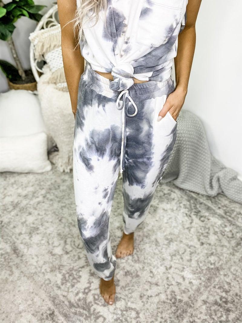 WHITE BIRCH-Tye Dye Louge Pants With Drawstring