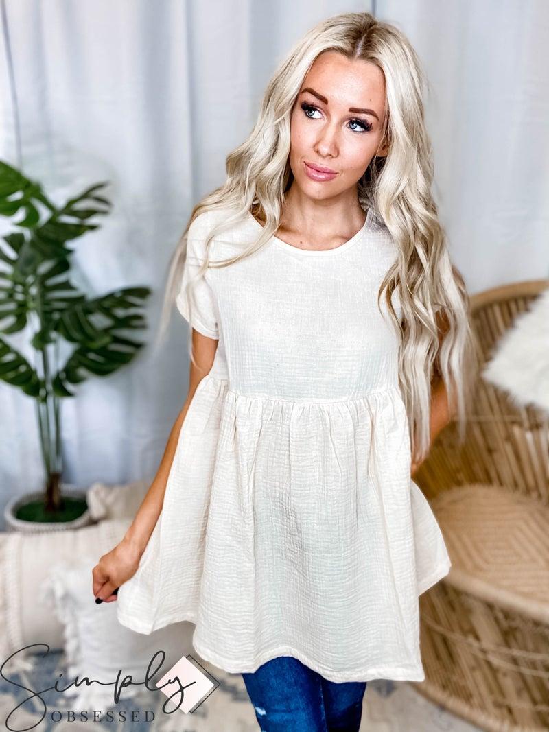 Hyfve - Short sleeve babydoll tunic top