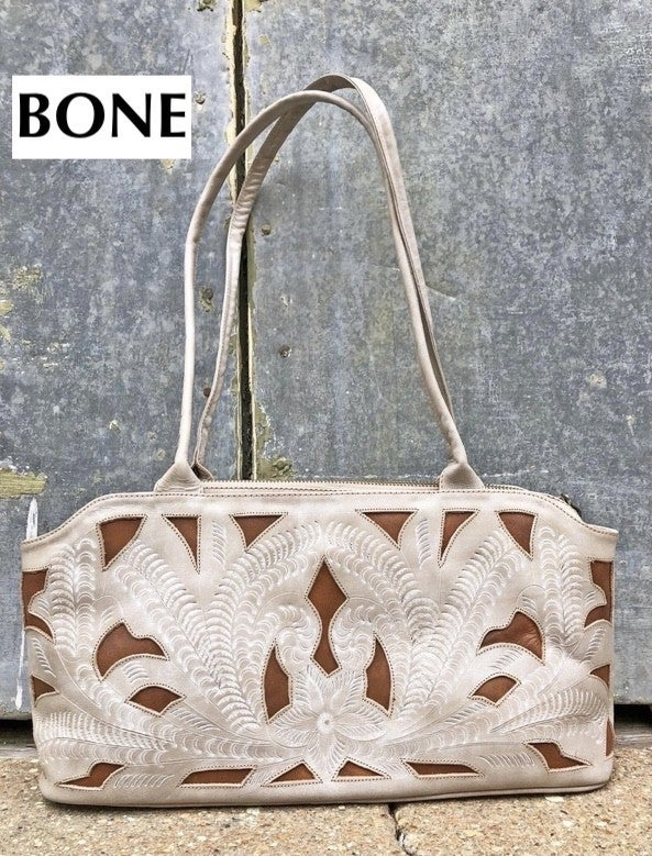 LEADERS IN LEATHER - East West Cut Out Shoulder Bag