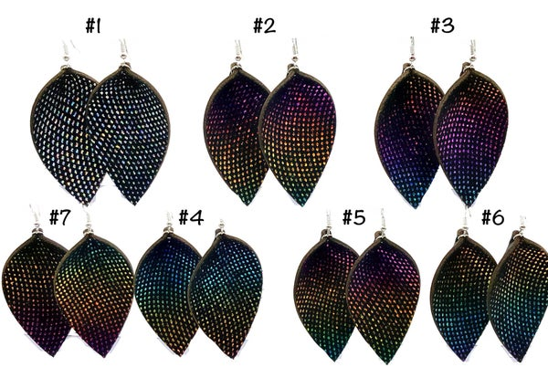 JJ - Colorful Leather Earrings