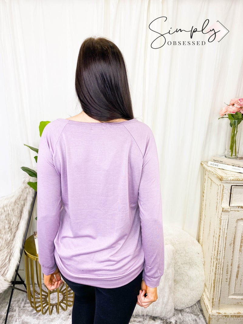 Bibi - Loose Fit Graphic French Terry Wide Neck Sweatshirt