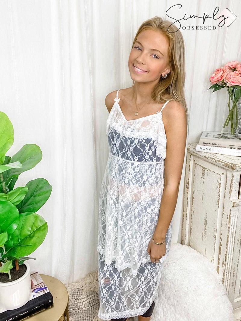 POL Clothing Inc-Transparent Lace Dress