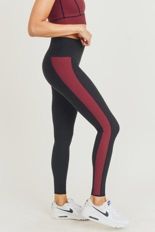 Mono B - Reversible Color Block High Waist Leggings