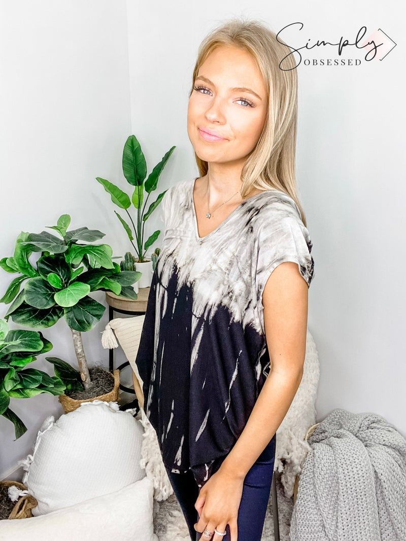 URBAN X-Tie Dye V Neck Cover Up Dress