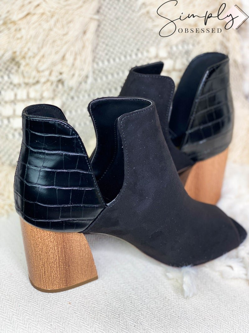 LET'S SEE STYLE-PEEP TOE BOOTIE