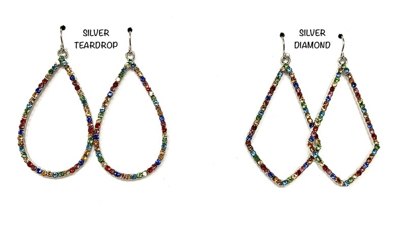 Halo CZ Colorful Earrings