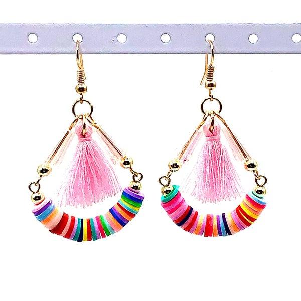 LAALEE - Colorful Teardrop Tassle Earrings