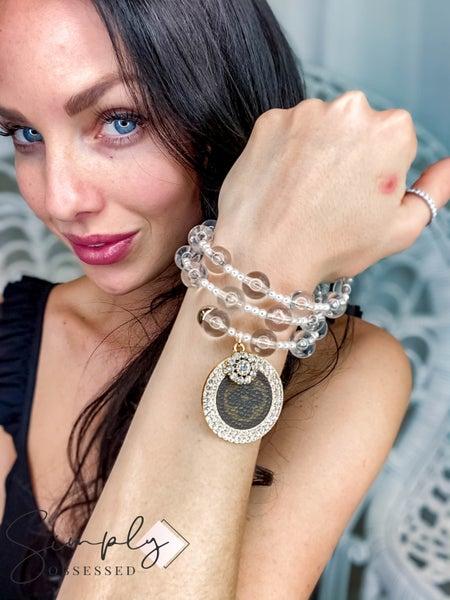 UpCycled - Clear LV Bangle Bracelets