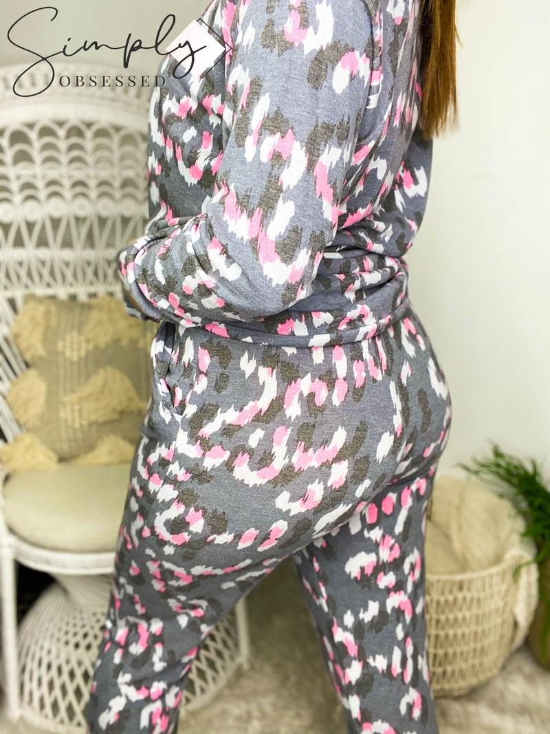Honey Me - Animal print elastic lounge wear pants (all sizes)