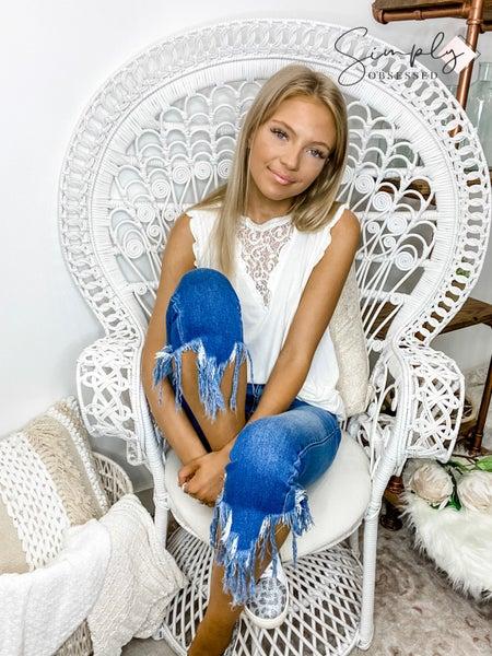 KanCan- Gemma mid rise ankle skinny