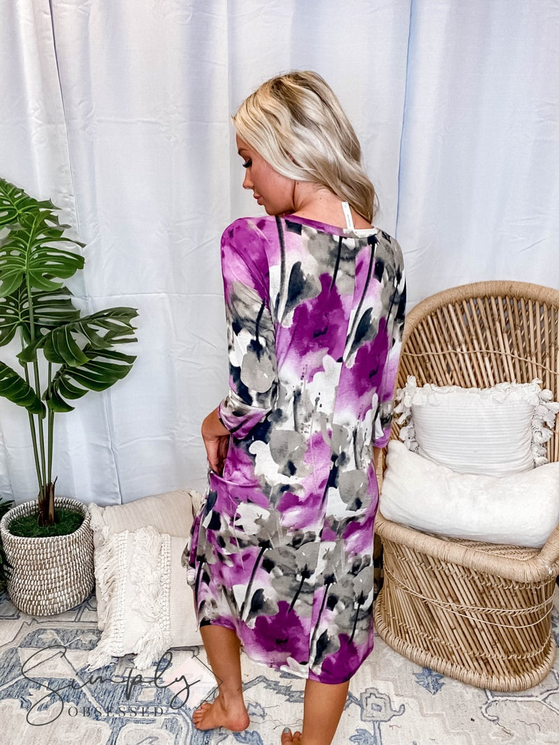Honeyme SET Pre-Sale - Floral Long Sleeve V-neck Dress