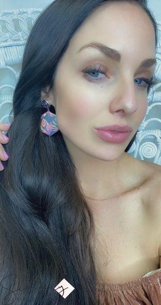 Leather Dangle Earrings