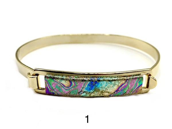 Rainbow Leather ID Bracelet