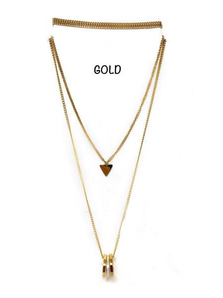 Stainless Steel Hoop Necklace 28in