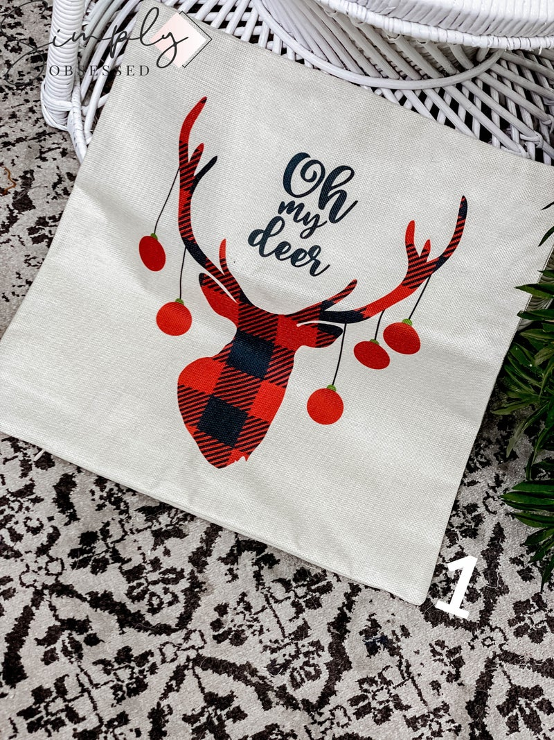 Julia Rose -  Detailed Christmas pillow covers