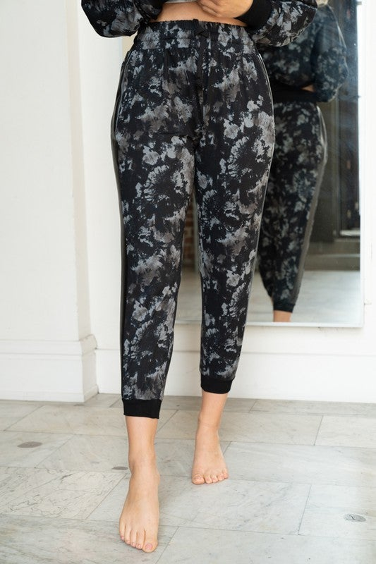 White Birch - Tie Dye Knit Joggers With Pockets(All Sizes)