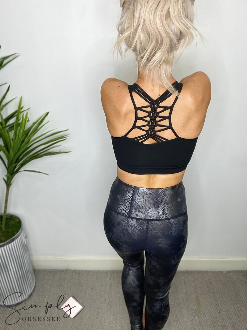 Mono B - High waist snake print foil leggings