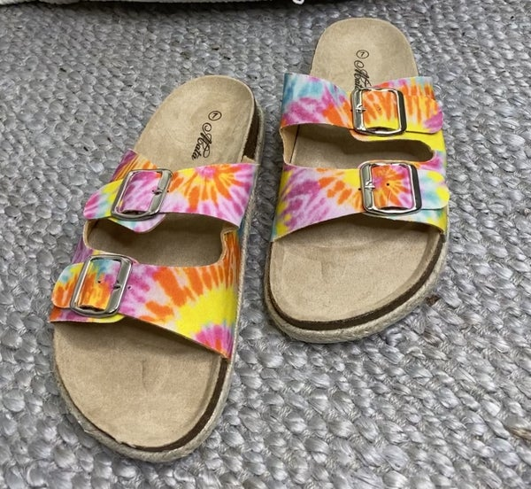 MATA-SLIP ON SANDALS WITH DOUBLE STRAP