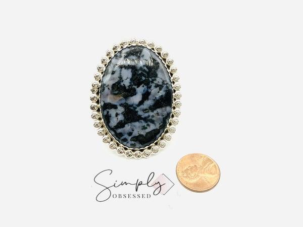 Large  Gebro Jasper Sterling Silver Ring