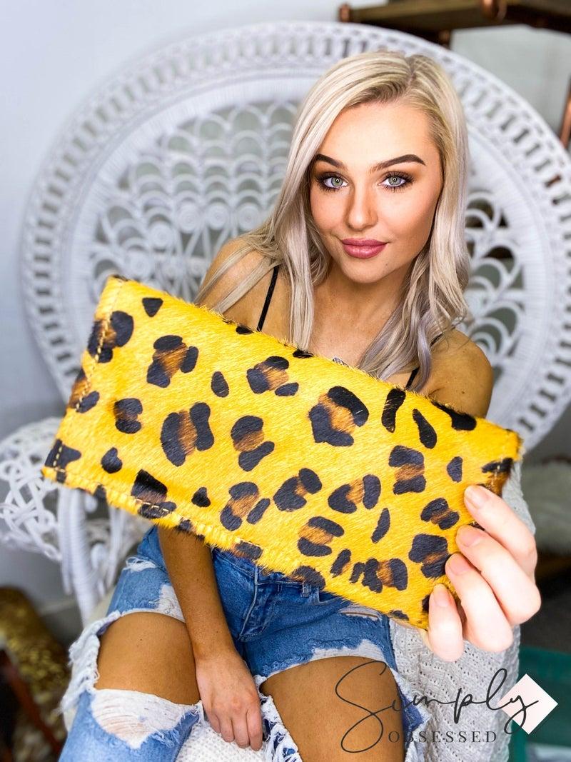 American Darling - Cheetah print snap button wallet