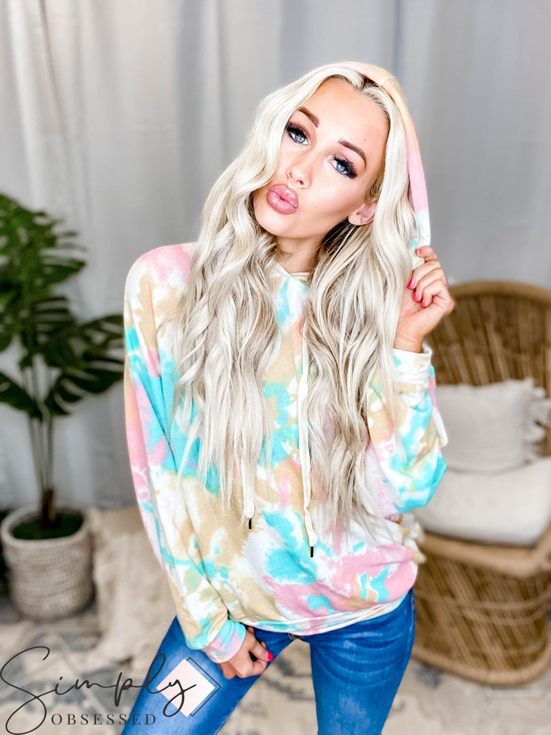 White Birch LA First Dibs - Long Sleeve Tie Dye Knit Sweater