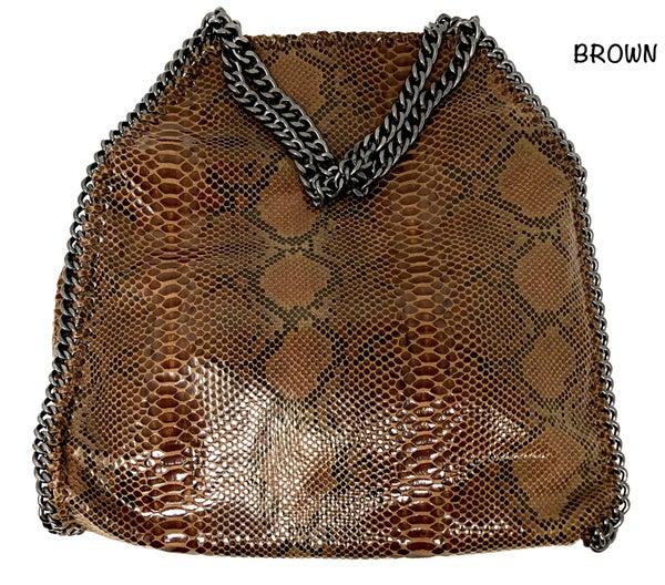 Hello 3 am - Snake skin hobo bag