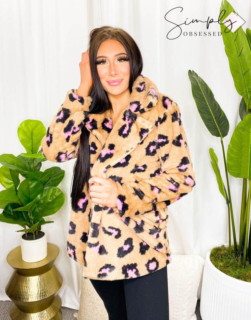 Kye Mi - Shaggy Faux Shearing Printed Coat