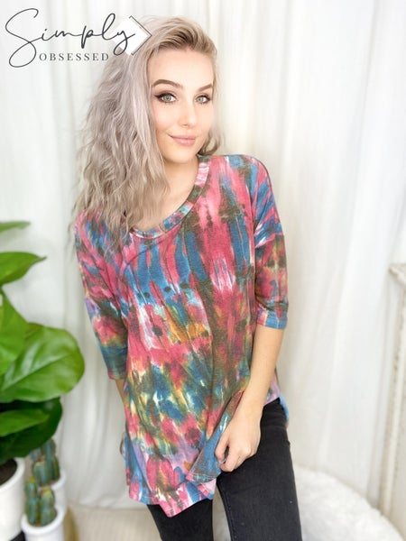 Sew In Love - Loose fitting multi colored top