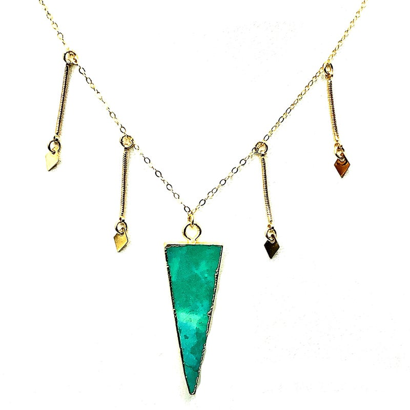 TOASTED J - Turquoise Spike Choker Necklace