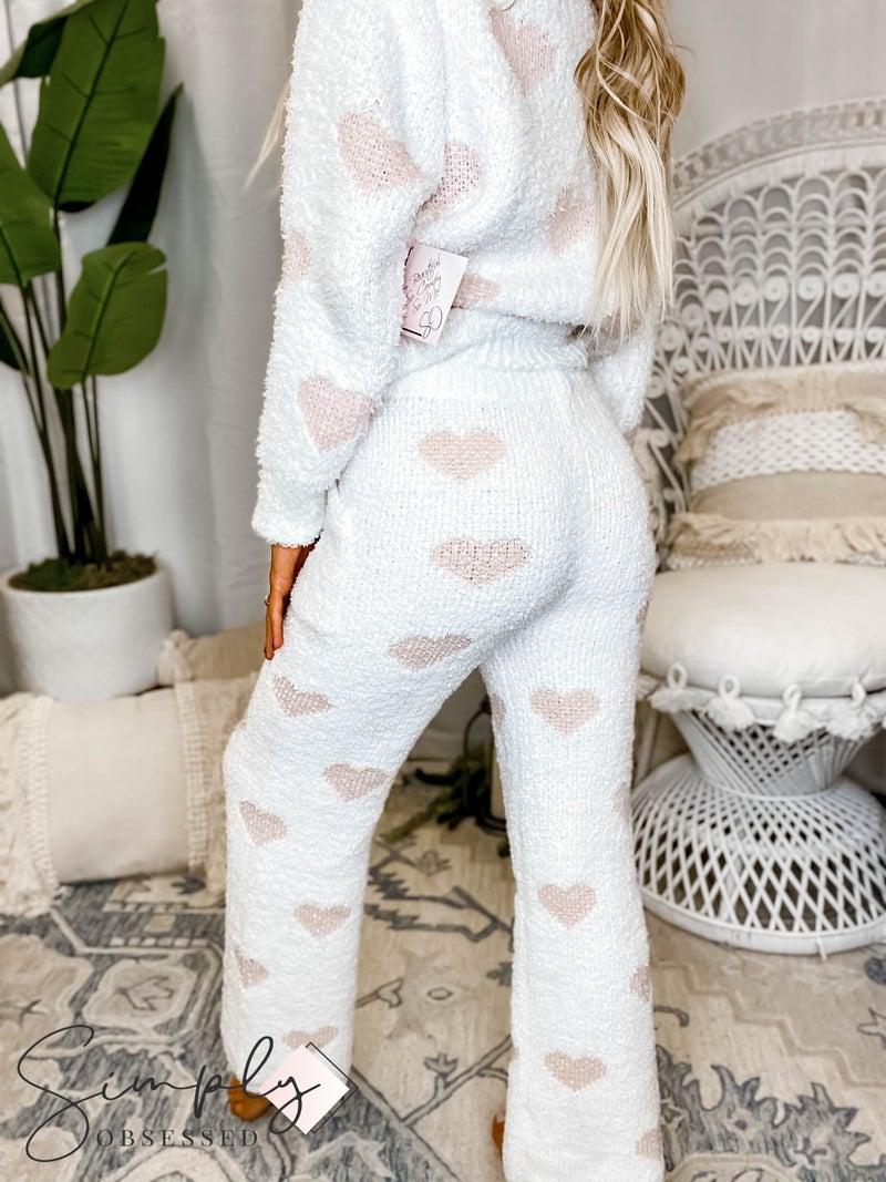 Pol - Heart print drawstring detail soft pants