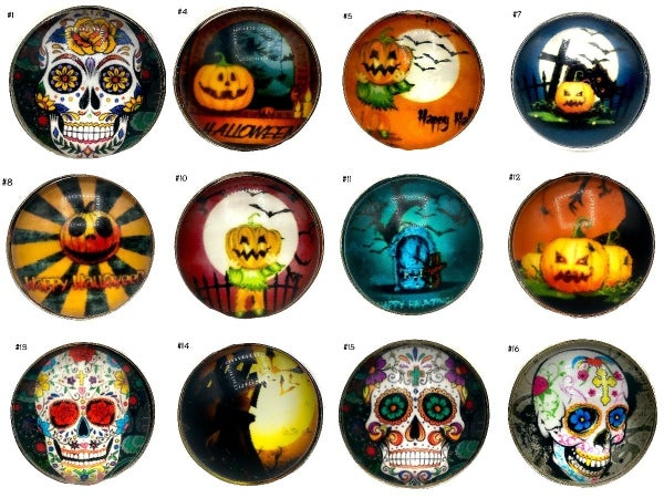 M&S - Adjustable Thick Band Halloween Rings