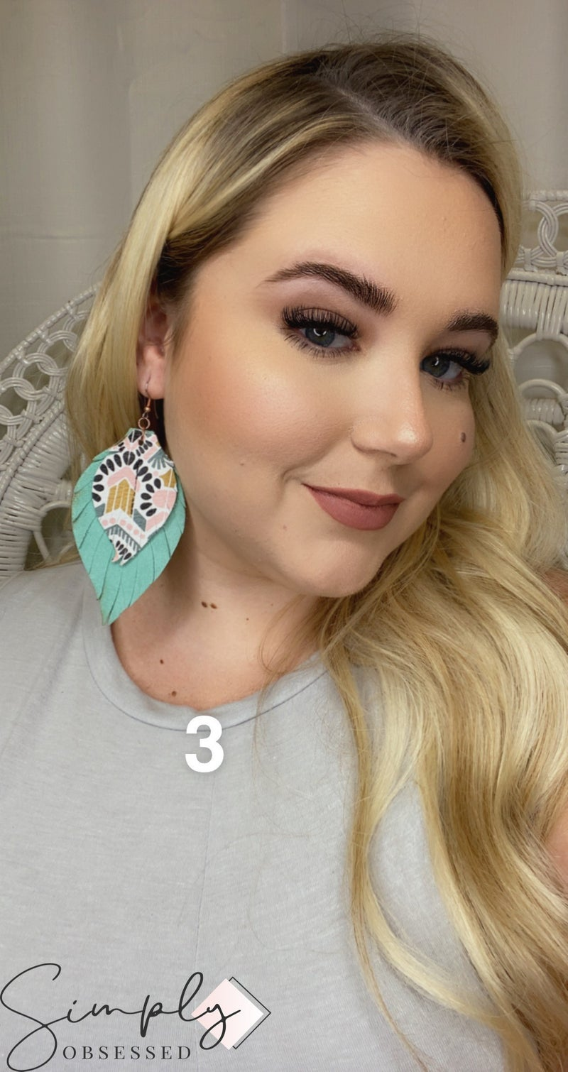 Emerge XL Candice Feather Earrings